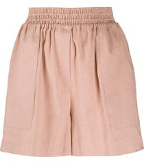 brunello cucinelli flared shorts - pink
