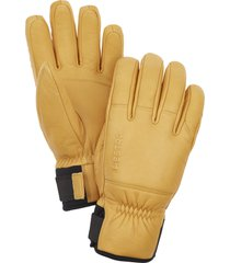 men's hestra omni leather gloves, size medium - brown
