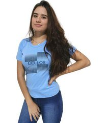 camiseta cellos degradê premium feminina - feminino