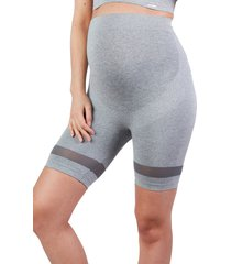 cache coeur maternity/nursing sport shorts, size large in grey at nordstrom