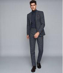 reiss pavese - textured slim fit blazer in navy, mens, size 48