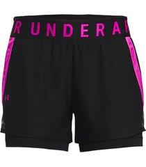 korte broek under armour play up 2-in-1 shorts women
