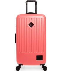 herschel supply co. medium trade 30-inch rolling suitcase - pink