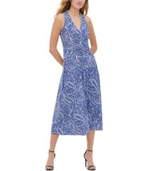 tommy hilfiger atlas shadow twisted-front dress