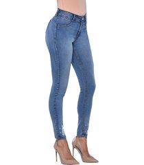 jeans tiro medio pitillo skinny 3152 azul amalia jeans