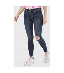 calça jeans gap jegging kristin azul-marinho
