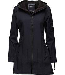 hip-length softshell raincoat outerwear rainwear rain coats blå ilse jacobsen
