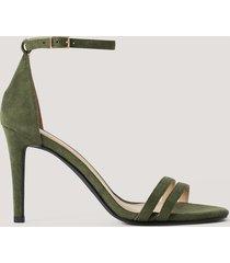 na-kd shoes högklackade sandaler - green