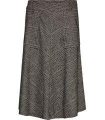 alice york skirt knälång kjol grå mos mosh
