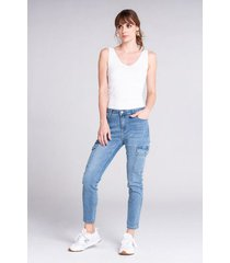 jean casual bolsillos laterales
