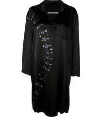 raquel allegra relaxed tie dye dress - black