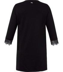 shirt met 3/4-mouwen van emilia lay zwart