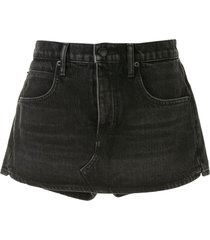 alexander wang fitted denim shorts - black