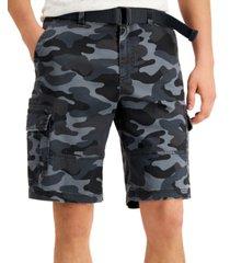 "sun + stone men's franklin camo cargo 11"" shorts, created for macy's"