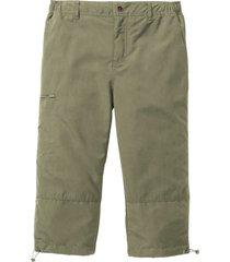 pantalone 3/4 in microfibra con vita elasticizzata ai lati. (verde) - bpc bonprix collection