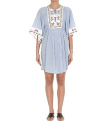 tory burch oversized floral striped dress