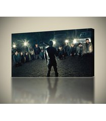 the walking dead 7 negan canvas print home wall decor giclee art ca313