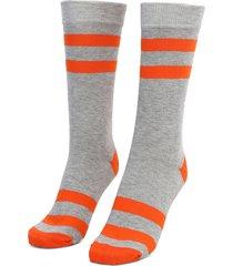 medias  naranja-gris colore