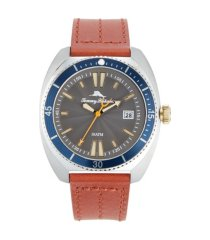 tommy bahama men's sag harbor diver multi leather strap watch, 48mm
