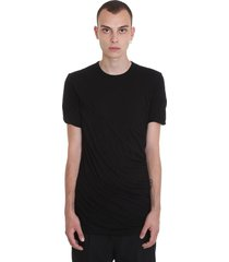 rick owens double ss t-shirt in black cotton