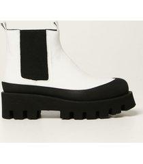 paloma barceló paloma barcelò flat booties celine paloma barcelò ankle boots in nappa leather with treaded sole