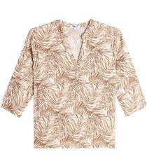 blusa mujer hojas largas