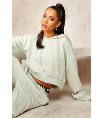 mix and match edition oversized hoodie, sage