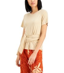 alfani wrap-front top, created for macy's