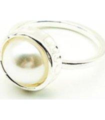 anillo perla plateado i-d