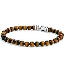 david yurman spiritual beads bracelet, size 8.5 in tiger eye at nordstrom