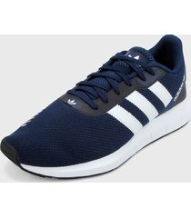 tenis lifestyle azul-blanco-negro adidas originals swift run rf,