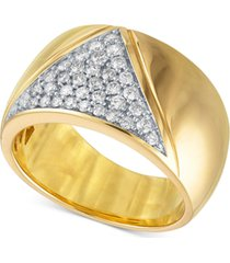 diamond chevron wide band statement ring (3/8 ct. t.w.) in 14k gold