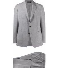ermenegildo zegna single-breasted suit set - grey