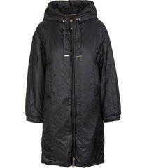 max mara black greeny jacket in drip-proof technical fabric