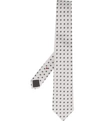 brunello cucinelli dotted pointed tie - white