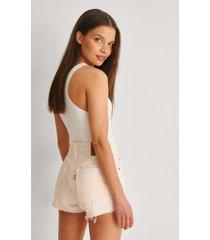 levi's 501-shorts - white