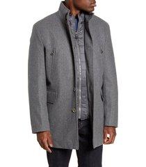 men's cole haan 3-in-1 car coat, size xx-large - grey