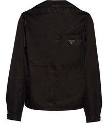 prada re-nylon blouson shirt - black