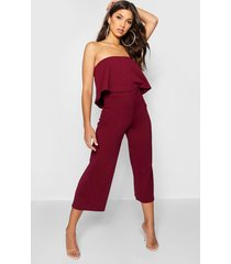 bandeau top & culottes co-ord set, burgundy