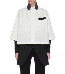 hybrid suiting shirt