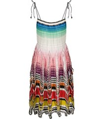 missoni mare loop-knit beach dress - pink