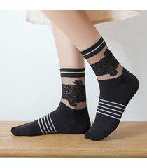 calze per calzini traspiranti a maglia traspirante in cotone elasticizzato con maniche lunghe
