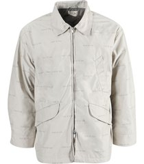 bone nylon field jacket
