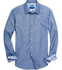 egara chambray blue dot sport shirt