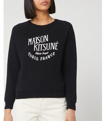 maison kitsuné women's sweatshirt palais royal - black - s