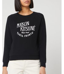 maison kitsuné women's sweatshirt palais royal - black - s