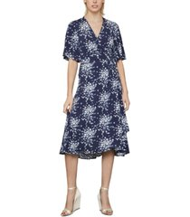 bcbgmaxazria floral-print wrap dress