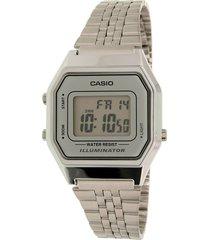la-680wa-7 reloj digital retro plateado dama