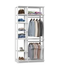 closet guarda roupa com 2 cabideiros branco lilies móveis