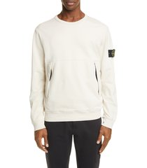 men's stone rose logo patch crewneck sweatshirt